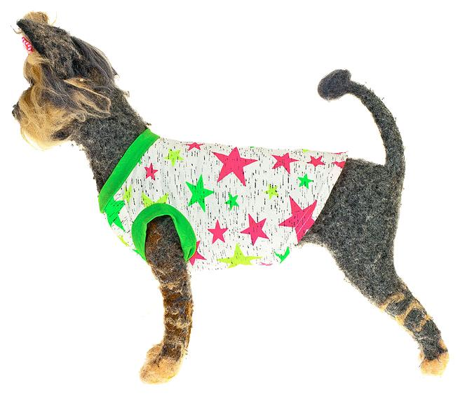 Майка для собак Happy Puppy Звездочка разноцветный M.