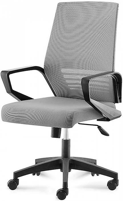 Офисное кресло Эрго-Black-LB серый