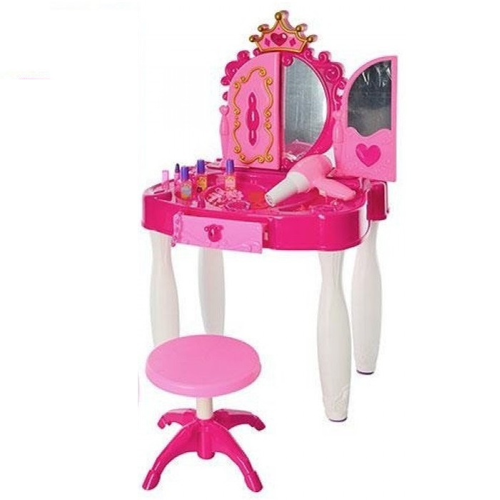 Купить Детское игрушечное трюмо Beauty со стульчиком и со звуковыми эффектами, Игрушечные туалетные столики