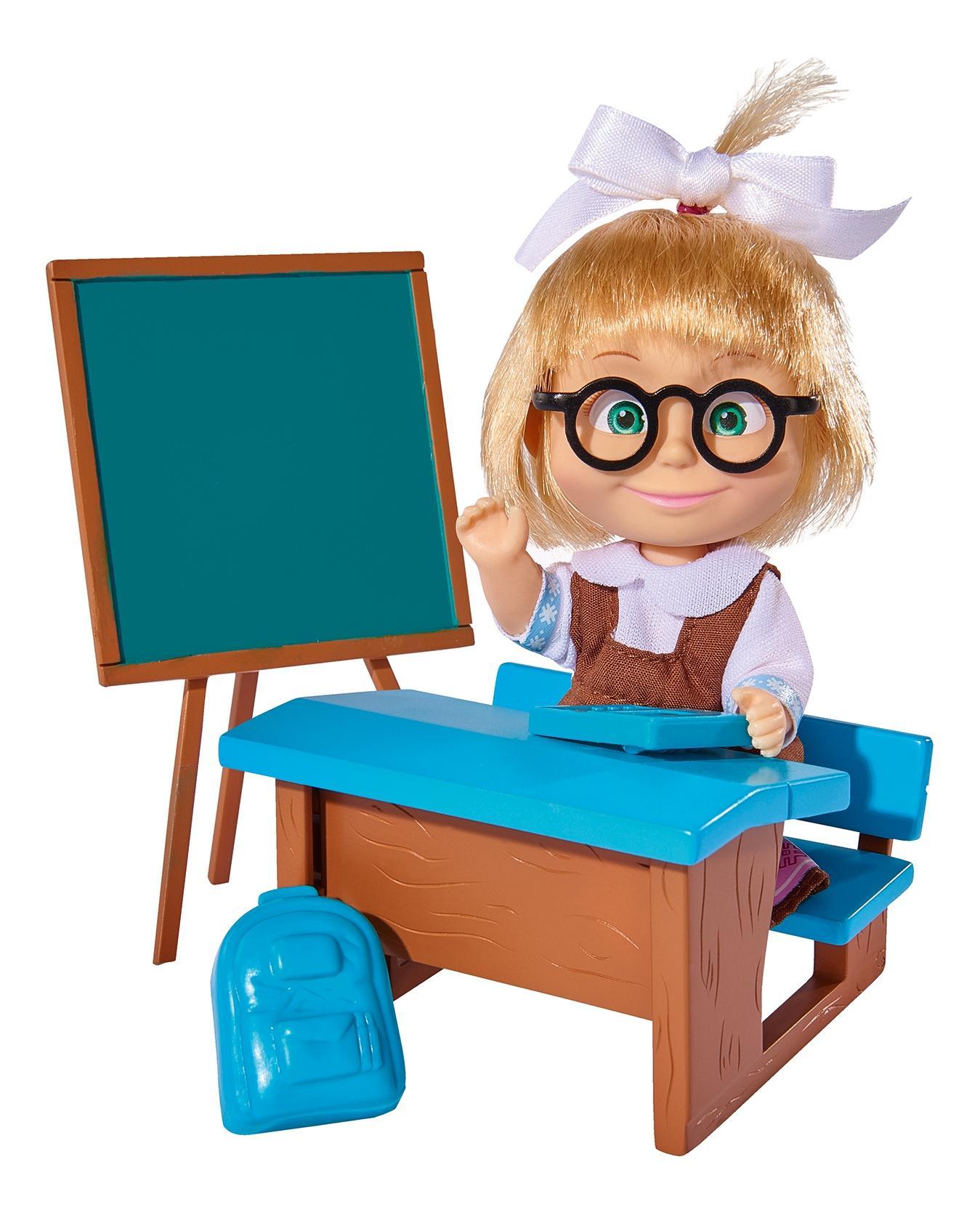 Игровой набор Simba Кукла Маша в школьной форме с классной доской, партой и аксессуарами