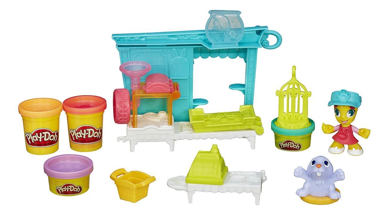 Купить Магазинчик домашних питомцев, Набор для лепки из пластилина плэйдо город зоомагазин b3418, Наборы для лепки Play-Doh