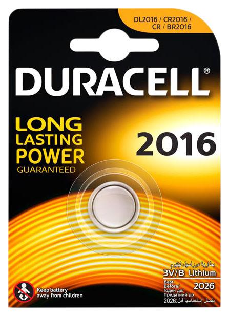Батарейка Duracell 2016 1 шт