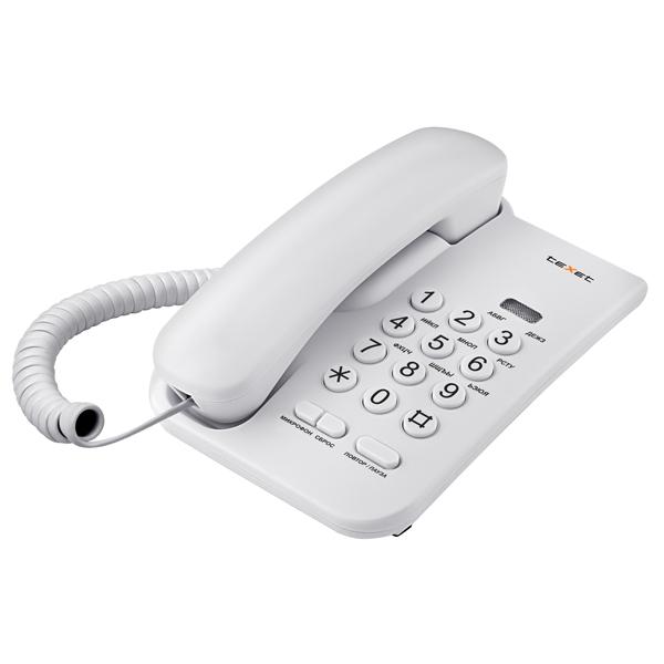 Телефон проводной teXet TX 212