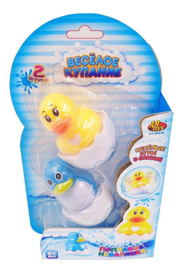 Купить Уточка и цыпленок, Веселое купание. игрушки для ванной pt-00534, ABtoys, Игрушки для купания малыша