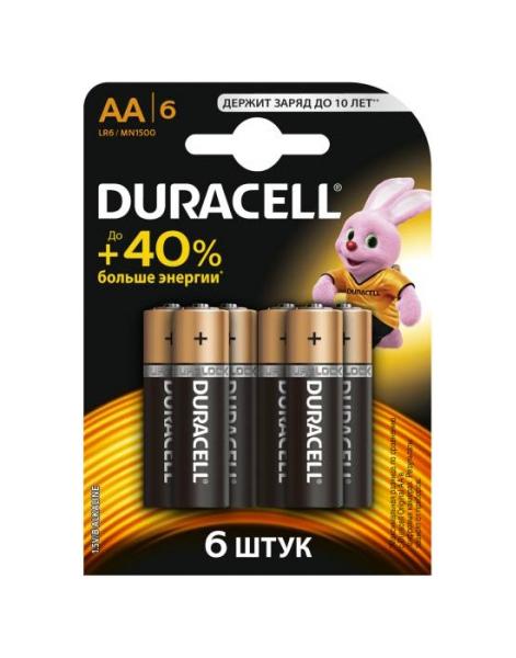 Батарейка Duracell LR6 6BL 6 шт