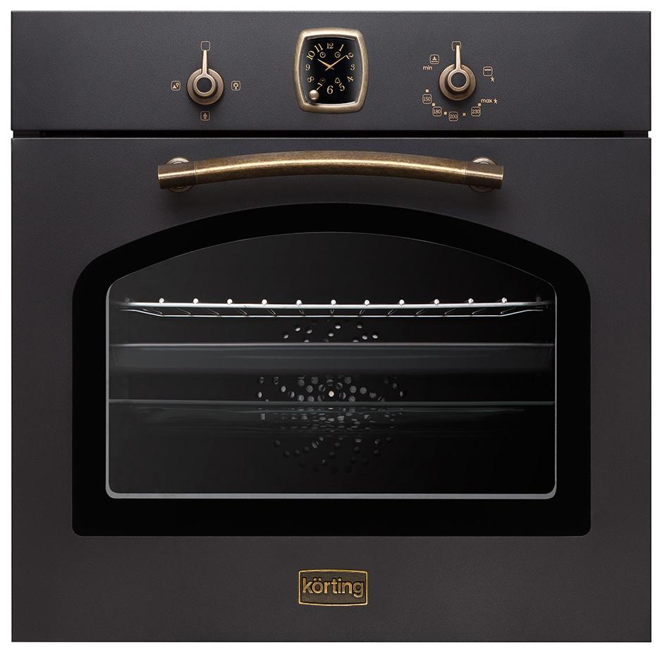 Встраиваемый газовый духовой шкаф Korting OGG 741 СRN Black