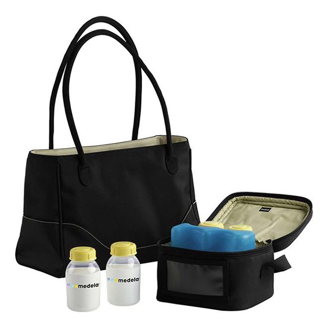 Купить 2000625, Сумка Medela City Style с контейнерами-бутылочками для хранения молока, Термосумки для детских бутылочек