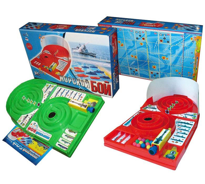 Семейная настольная игра Омский завод электротоваров Морской бой ОМ-48008
