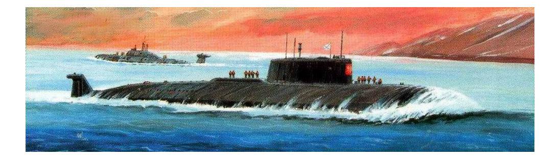 Модели для сборки Zvezda Подводная лодка Курск фото