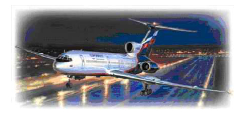 Купить Пассажирский авиалайнер 'ТУ-154', Модель для сборки Zvezda Пассажирский авиалайнер ТУ-154,