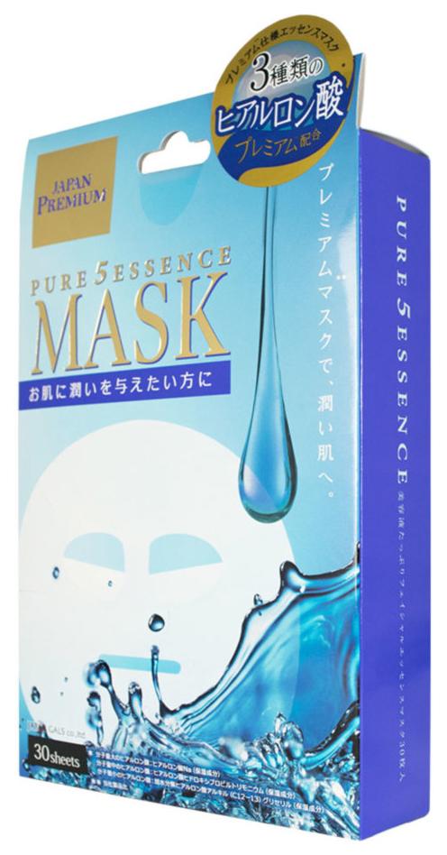 Маска для лица JAPAN GALS Premium c тремя видами гиалуроновой кислоты 30 шт