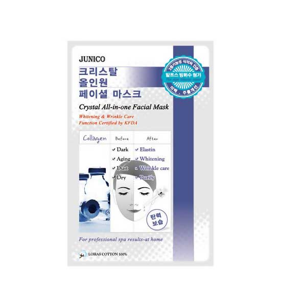 Купить Маска для лица MJ CARE Junico Crystal All-in-one Facial Mask Collagen 25 г