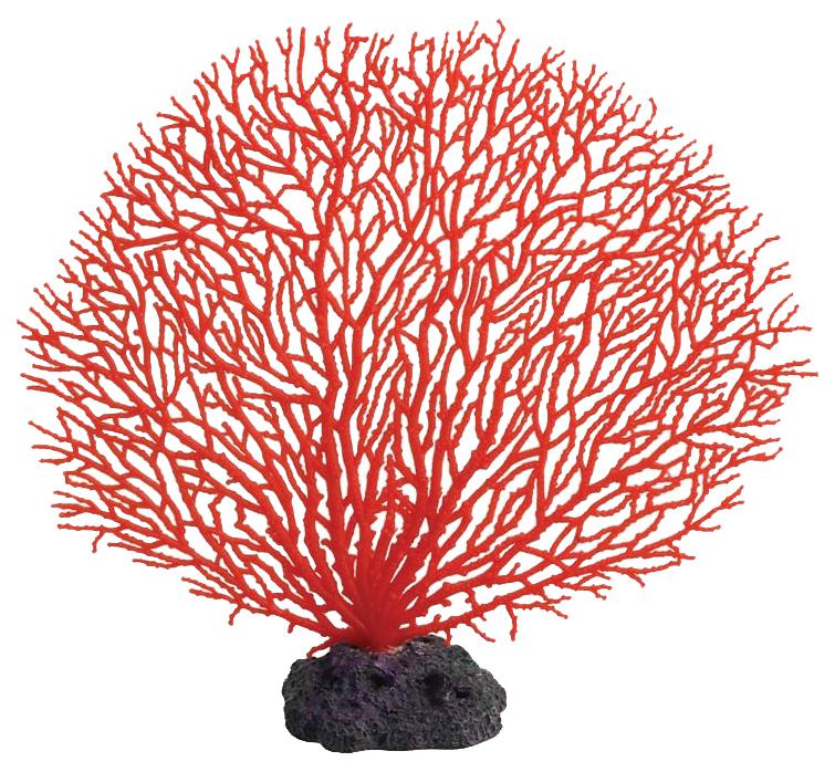 Искусственный коралл Laguna Горгонария, красный, 27.5х25х25 см