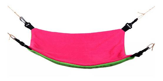 Гамак для хорьков OSSO Fashion флис 30x35см розовый, зеленый