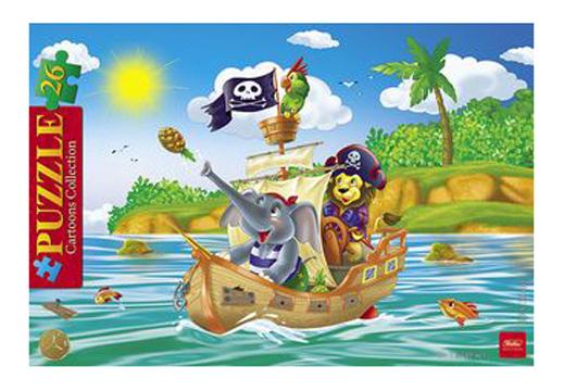 Купить Забавные пираты, Пазл Hatber 26 деталей,