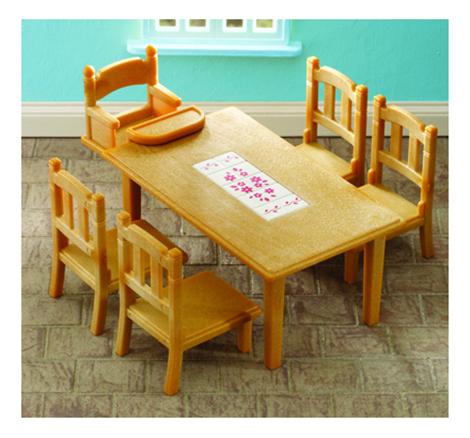 Игровой набор Sylvanian Families Обеденный стол с 5-ю стульями фото