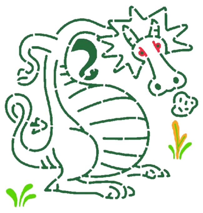 Купить Набор для рисования DJECO Трафареты Драконы 8856, Наборы для рисования