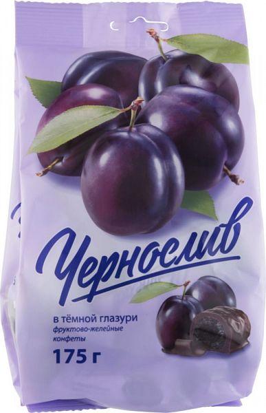 Конфеты фруктово-желейные Good Food чернослив в темной глазури 175 г фото
