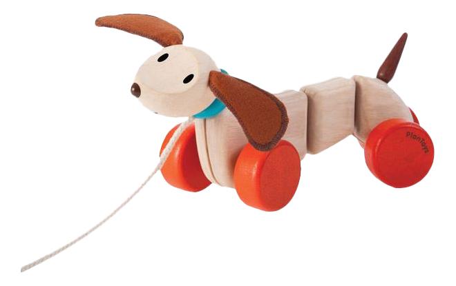 Купить Средняя, Каталка детская PlanToys Счастливый Пес, Игрушки-каталки