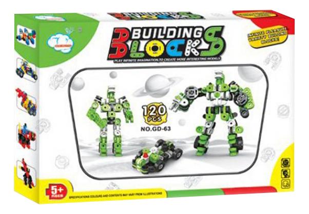 Конструктор Building Blocks зеленый 120 деталей Gratwest Г79337