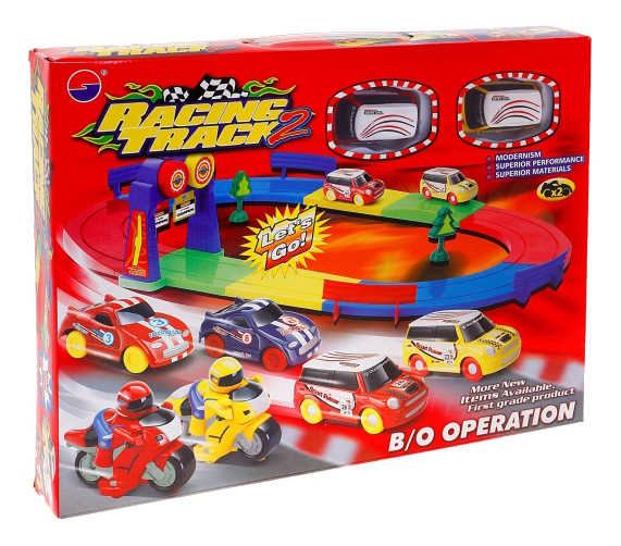 Купить Гоночный трек с 2 машинками racing track 2 М30553, Гоночный трек с 2 машинками Racing Track 2 Gratwest М30553, Детские автотреки