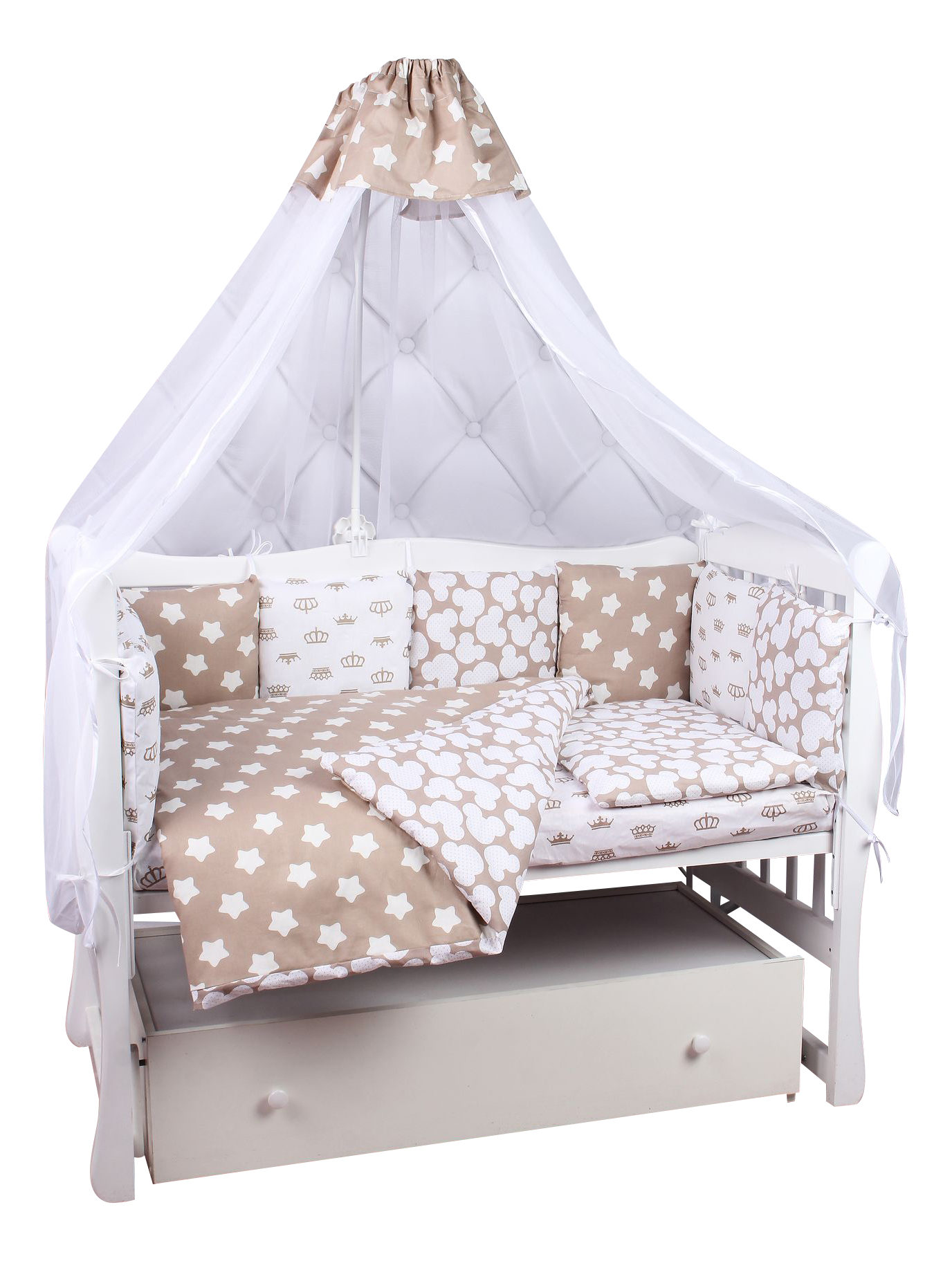 Купить Комплект в кроватку Amarobaby Soft 19 предметов, Комплекты детского постельного белья