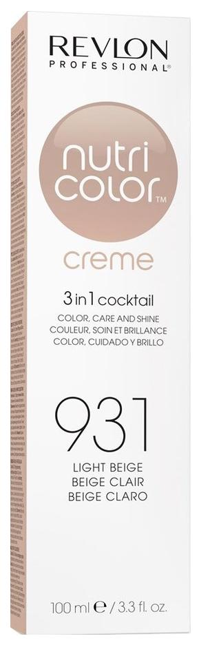 Краска для волос Revlon Professional Nutri Color Creme 931 Светло-бежевый 100 мл