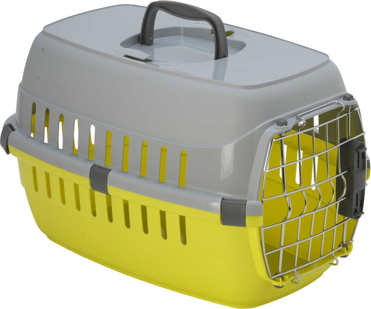 Переноска для животных MODERNA Roadrunner 1, для авиаперевозок, лимонная, 31х51х34см фото