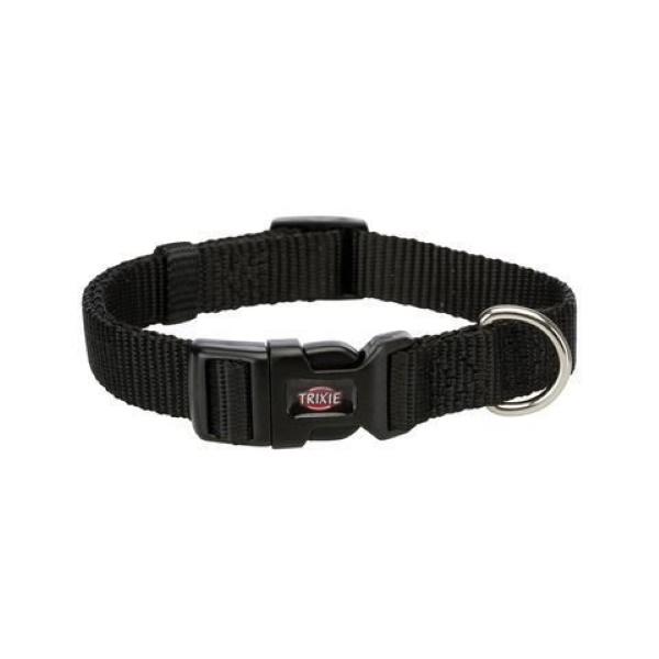 Ошейник для собак TRIXIE Premium, черный, S–M, 30–45см, 15мм