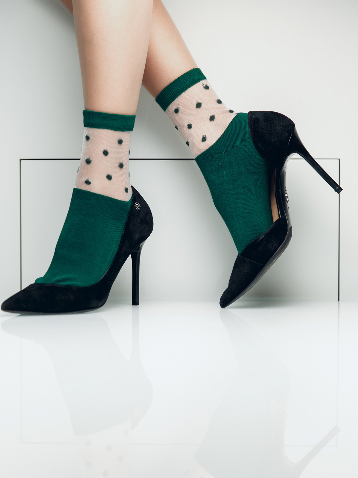 Носки женские Giulia зеленые 39-40