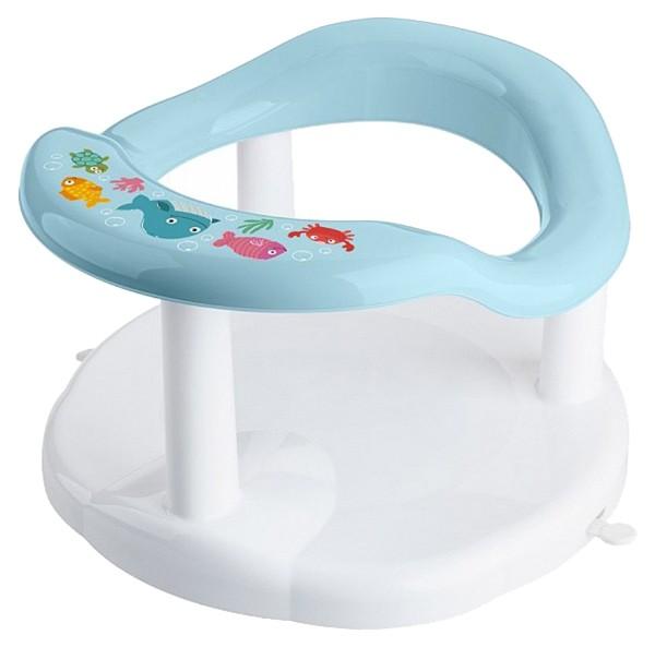 Купить Сиденье для купания детей, с аппликацией, голубое, Бытпласт, Стульчики для купания малыша