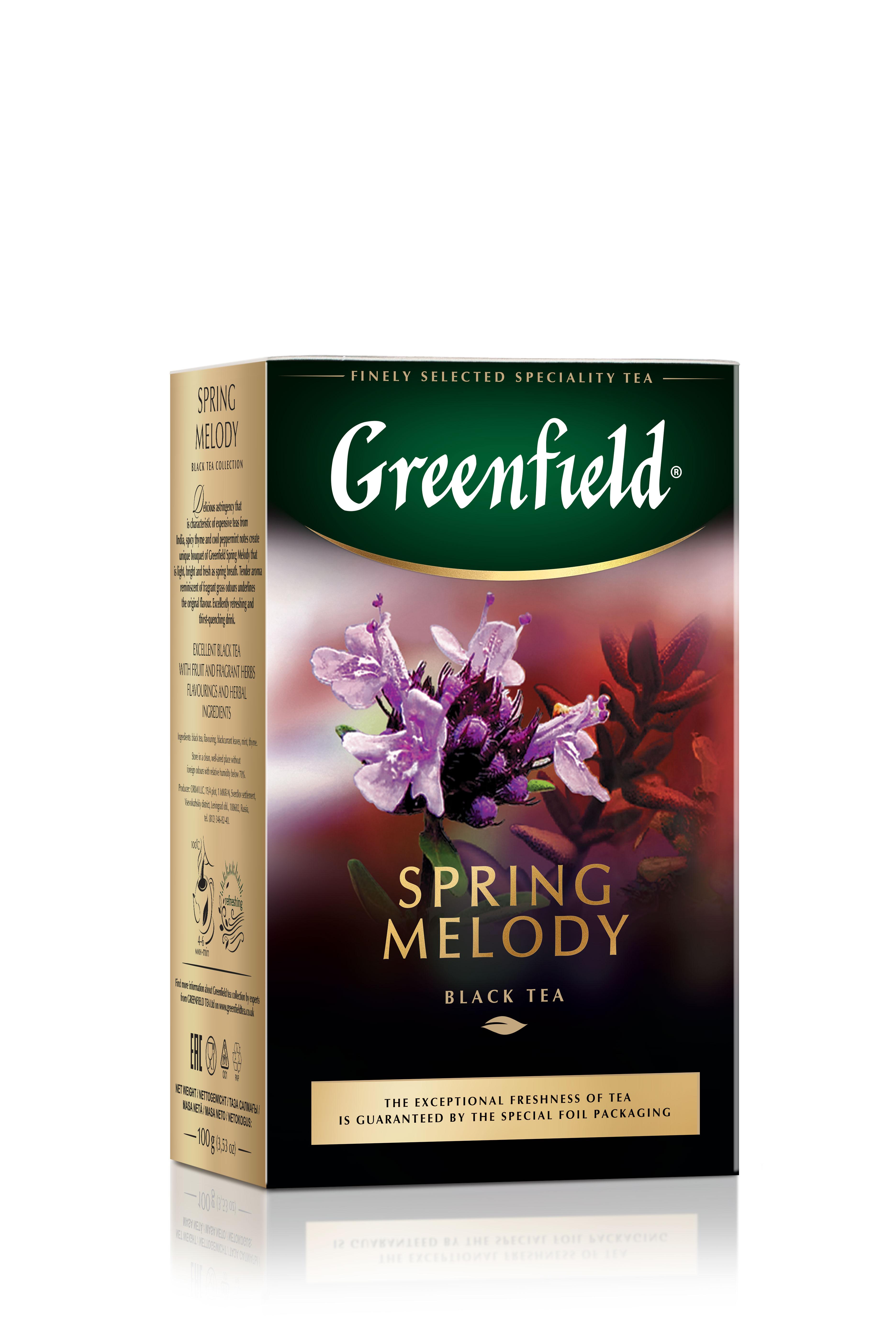 Чай черный Greenfield листовой spring melody 100 г фото