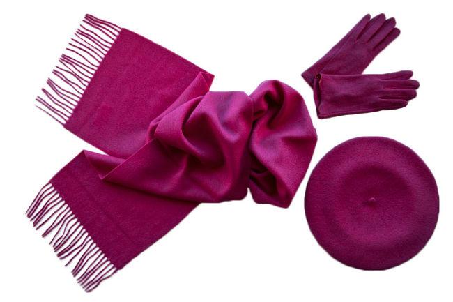 Комплект (берет, шарф, перчатки) Tonak/Tranini 301 розовый фото