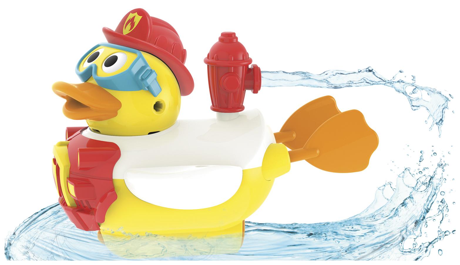 Купить Интерактивная игрушка для купания Yookidoo Водная Утка-Пожарный Арт. 40172, Игрушки для купания
