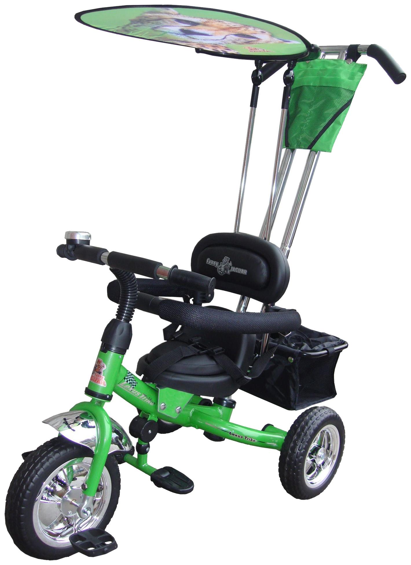 Купить Трехколесный велосипед Funny Jaguar Lexus Trike Original Volt зеленый, Детские велосипеды-коляски