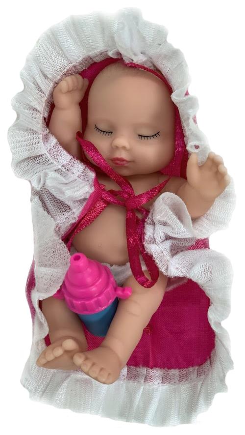 Купить Спящий пупс Город игр Anna De Wailly в шаре малиновое одеялко, Город Игр, Пупсы