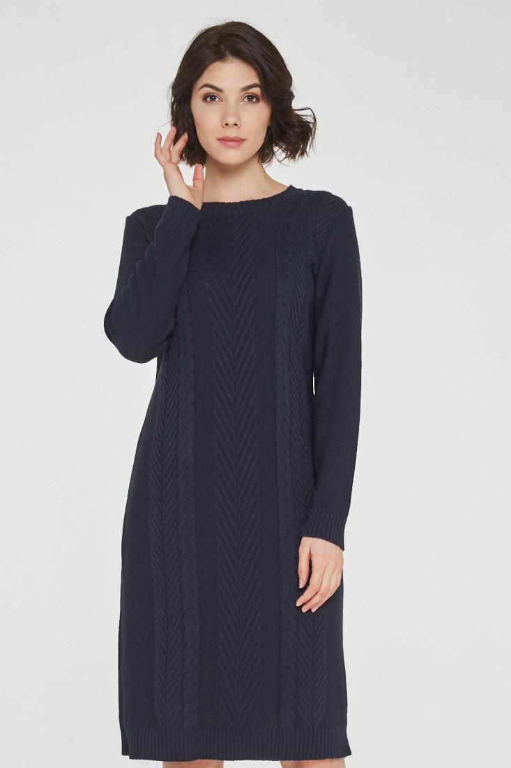 Платье женское VAY 182-2347 синее 52 RU фото