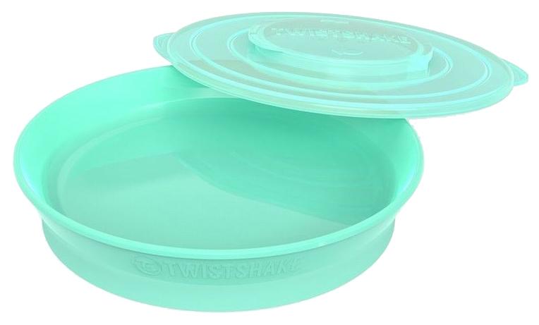 Тарелка Twistshake, цвет: пастельный зеленый (Pastel Green)