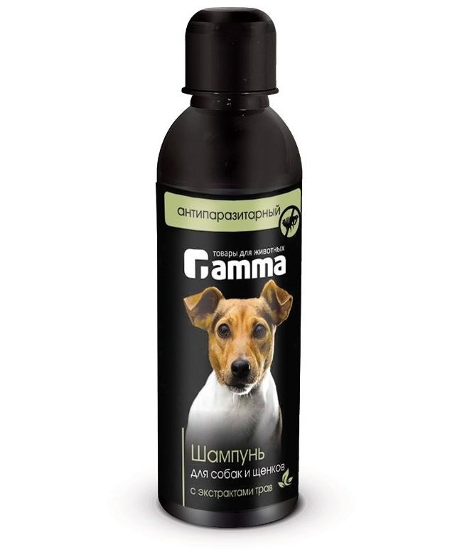 Шампунь для собак и щенков Gamma антипаразитарный с экстрактом трав, 250 мл