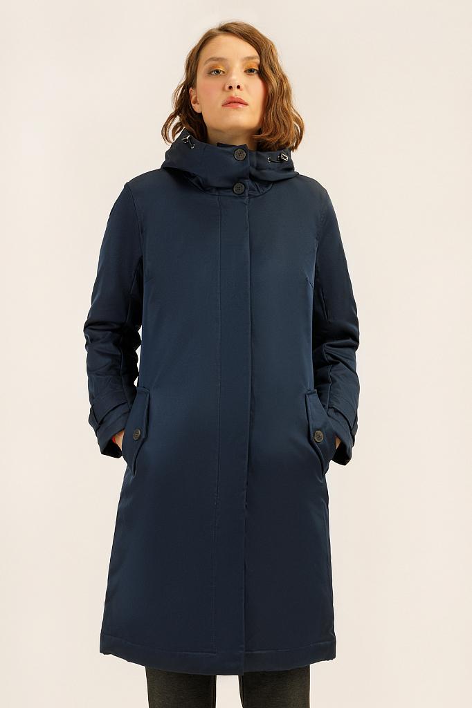 Пальто женское Finn Flare A19-11029 синее XS фото