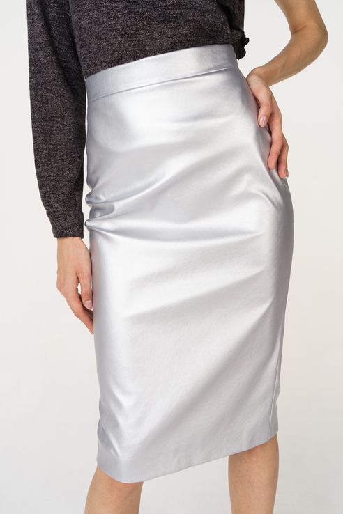 Юбка женская T-Skirt 16AW-02-0276-FS серебристая 44 RU фото