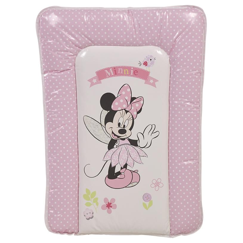 Доска пеленальная мягкая Polini Kids Disney baby Минни Маус Фея 70х50, розовый