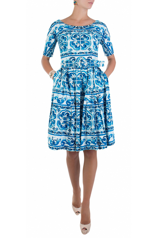 Платье женское SAMANTHA SUNG 81646 синее S