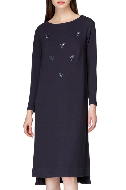 Платье женское Helmidge 7955 синее 16 UK