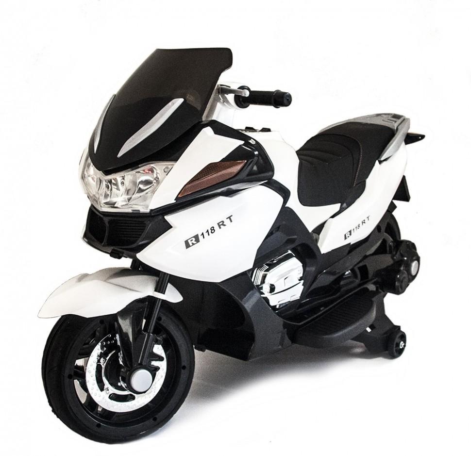 Купить Детский электромобиль мотоцикл BMW R1200RT White 12V - HZB-118,