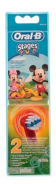 Насадка для электрической зубной щетки Oral-B EB10K Stages Kids 2 шт. Mickey
