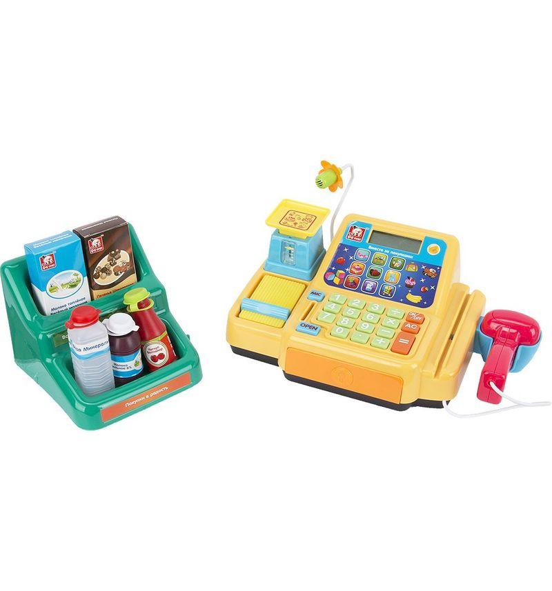 Касса в наборе с продуктами, (на бат) S S Toys S+S Toys