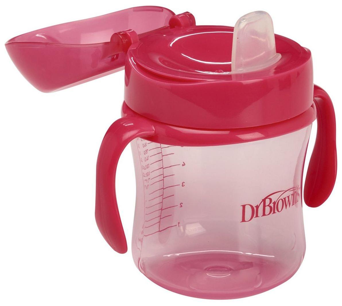 Купить Чашка-непроливайка DrBrowns TC61003 Розовая, Dr. Brown's, Поильники