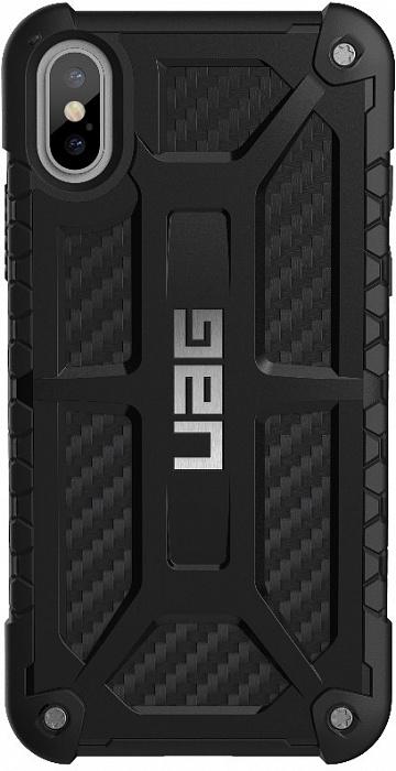 Чехол Urban Armor Gear Monarch (IPHX-M-X) для Apple iPhone X (Carbon Fiber)  - купить со скидкой