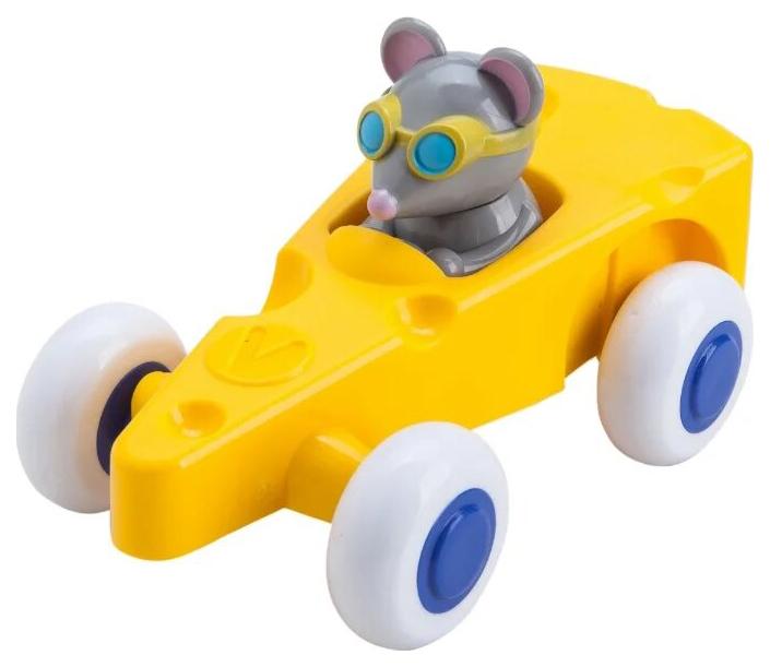 Купить Viking toys Машинка-сыр 14 см, с Мышкой, в подарочной упаковке, арт. 81362, Игрушечные машинки